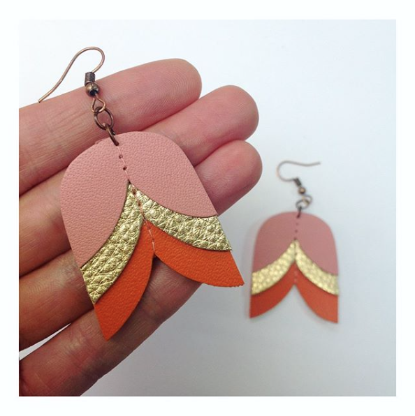 Geometric Leather Earrings – 2 Hour Workshop