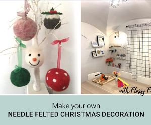 Needle Felted Christmas Decorations