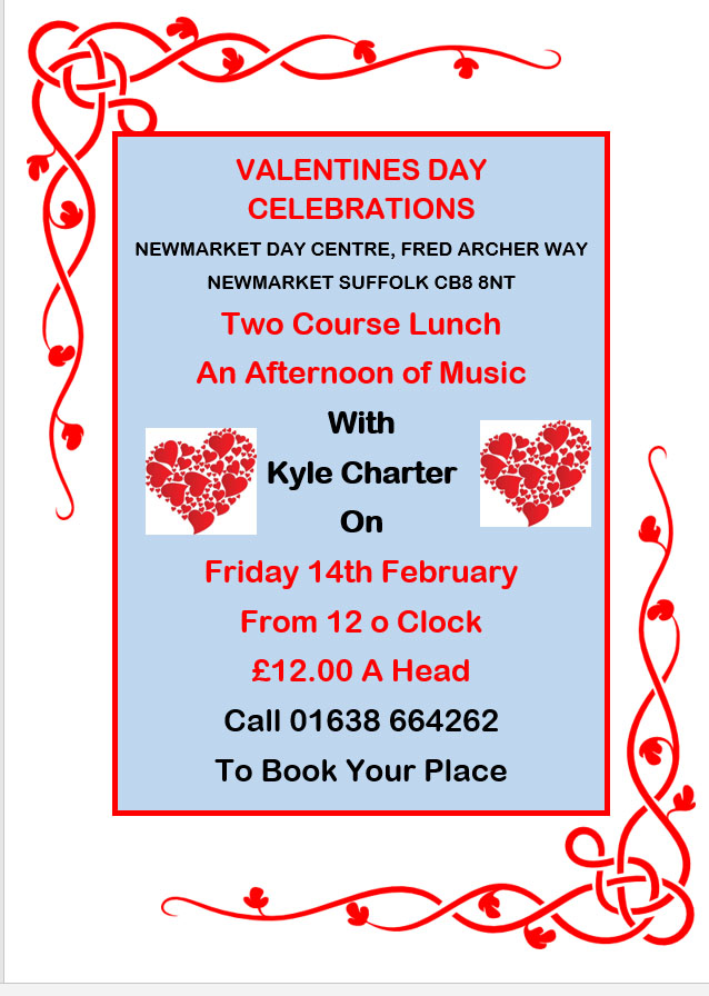 Valentines at Newmarket Day Centre