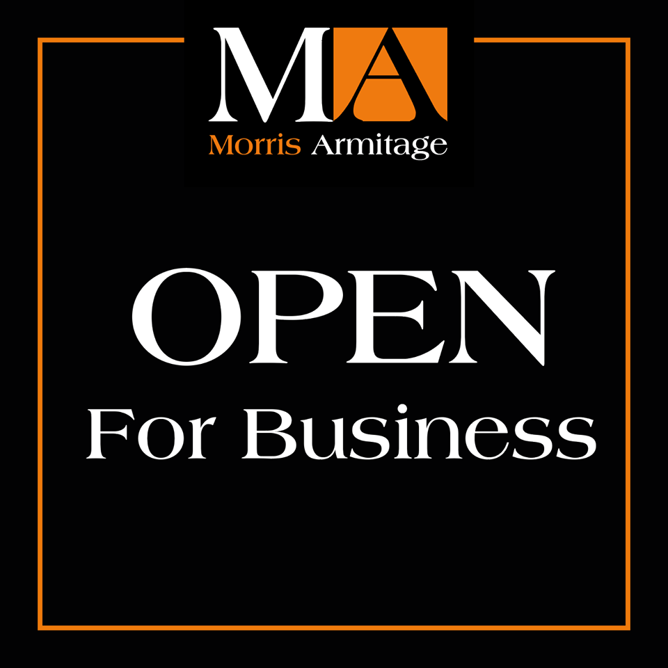 Morris Armitage Open For Business